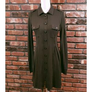 Free People Army Green Military Style Knit Dress